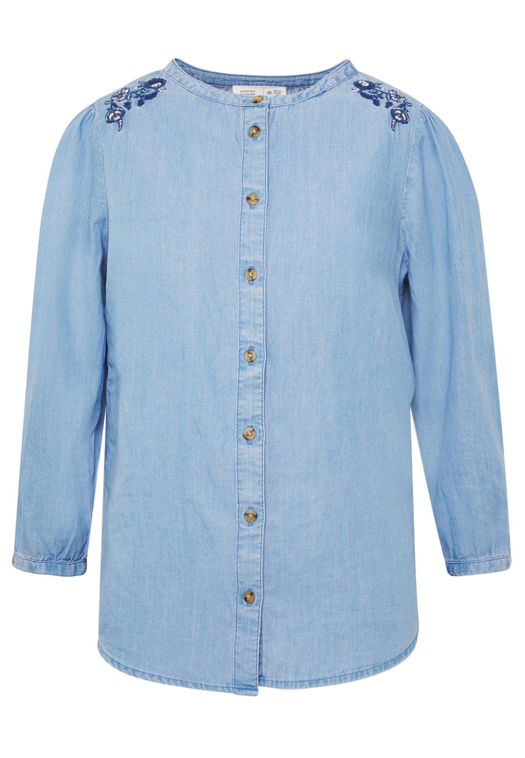 Springfield BORDADOS - Bluzka - medium blue