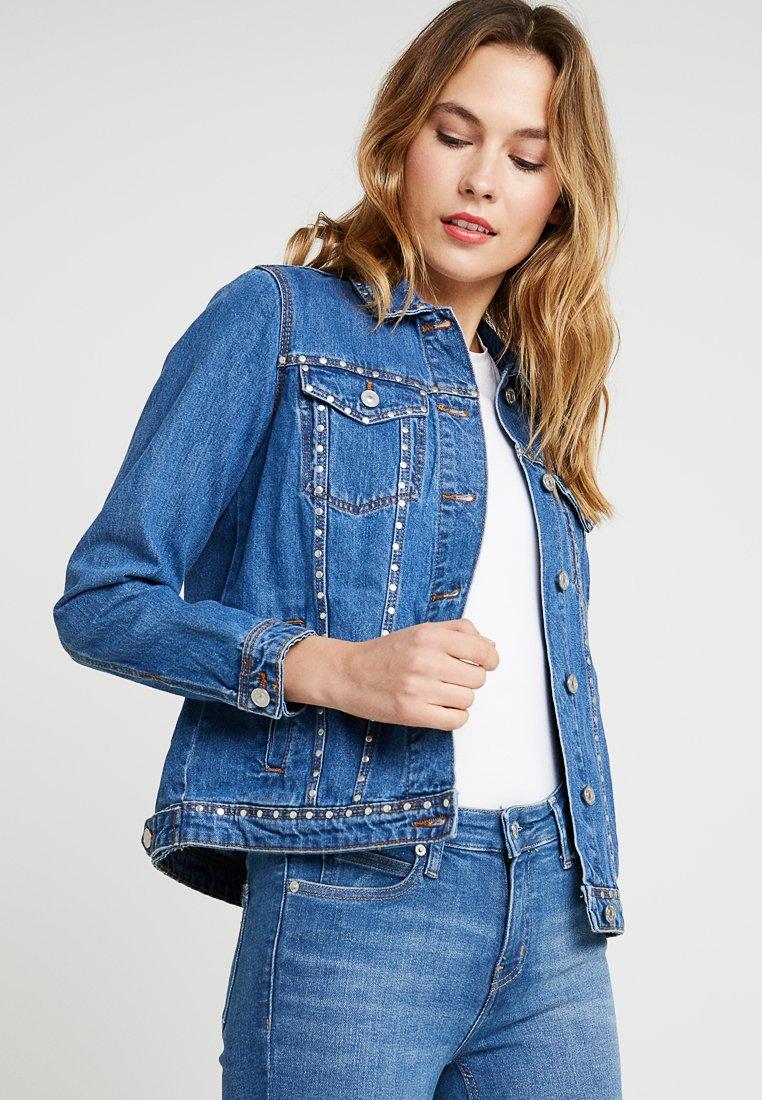 Springfield - TACHAS - Denim jacket - blues