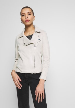 BIKER ANTELINA - Faux leather jacket - beige