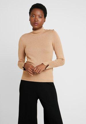 Strickpullover - beige/camel