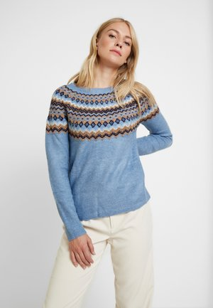 ROUND JACQUARD - Jumper - blues
