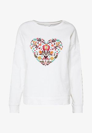 CORAZON BORDADO - Sweatshirt - white