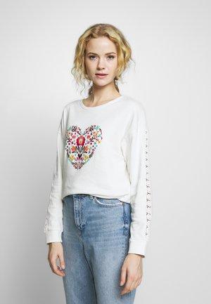 CORAZON BORDADO - Sweatshirt - white