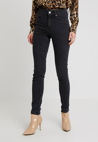 Springfield - SCULPT HIGH RISE - Jeans Skinny Fit - black - 0
