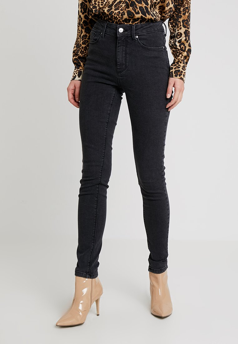 Springfield - SCULPT HIGH RISE - Jeans Skinny Fit - black