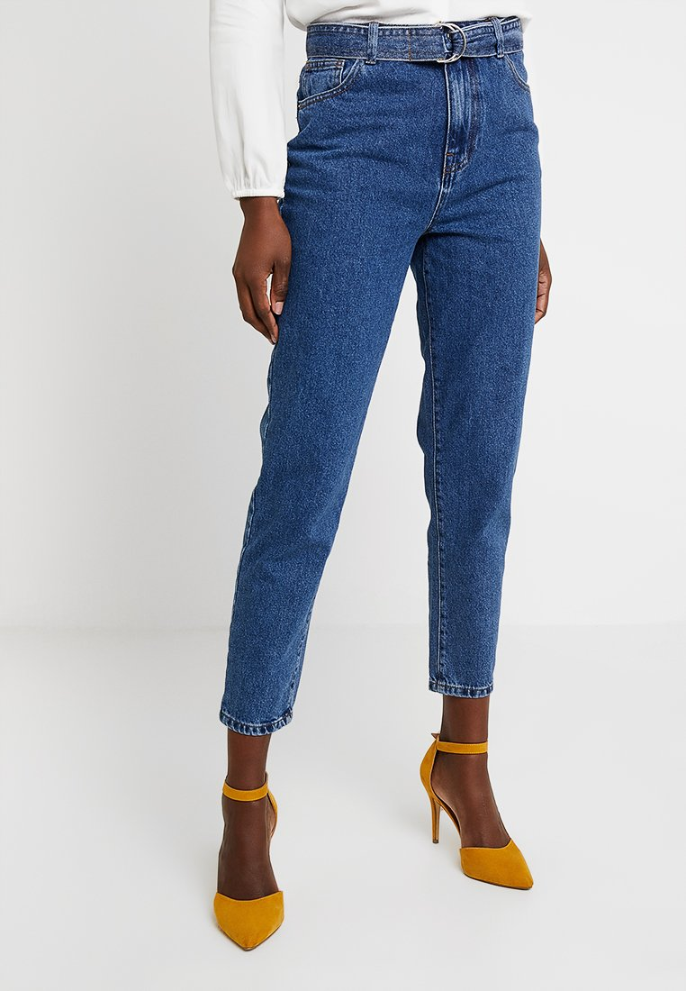 Springfield - CINTURON - Jeans Tapered Fit - blues