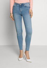 Springfield - Slim fit jeans - light blue - 0