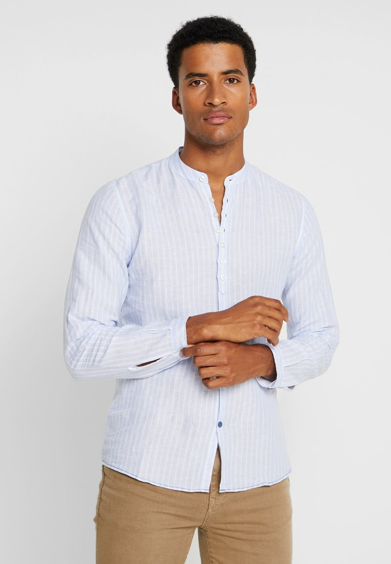 Springfield - STRIPE LINEN MULTIBOTTON - Camicia - blues