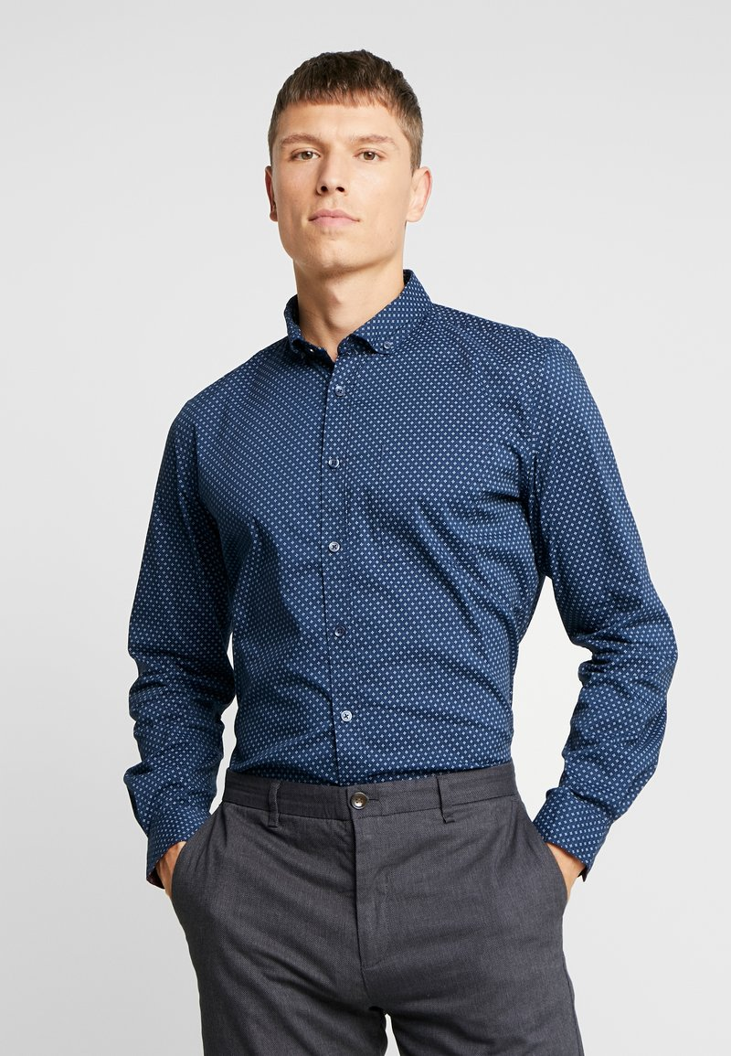 Springfield - MEDIO CARE SLIM FIT - Hemd - marine blue