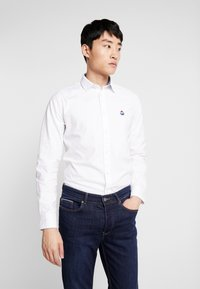 Springfield - SOLID OXFORD STRECH - Shirt - white - 0