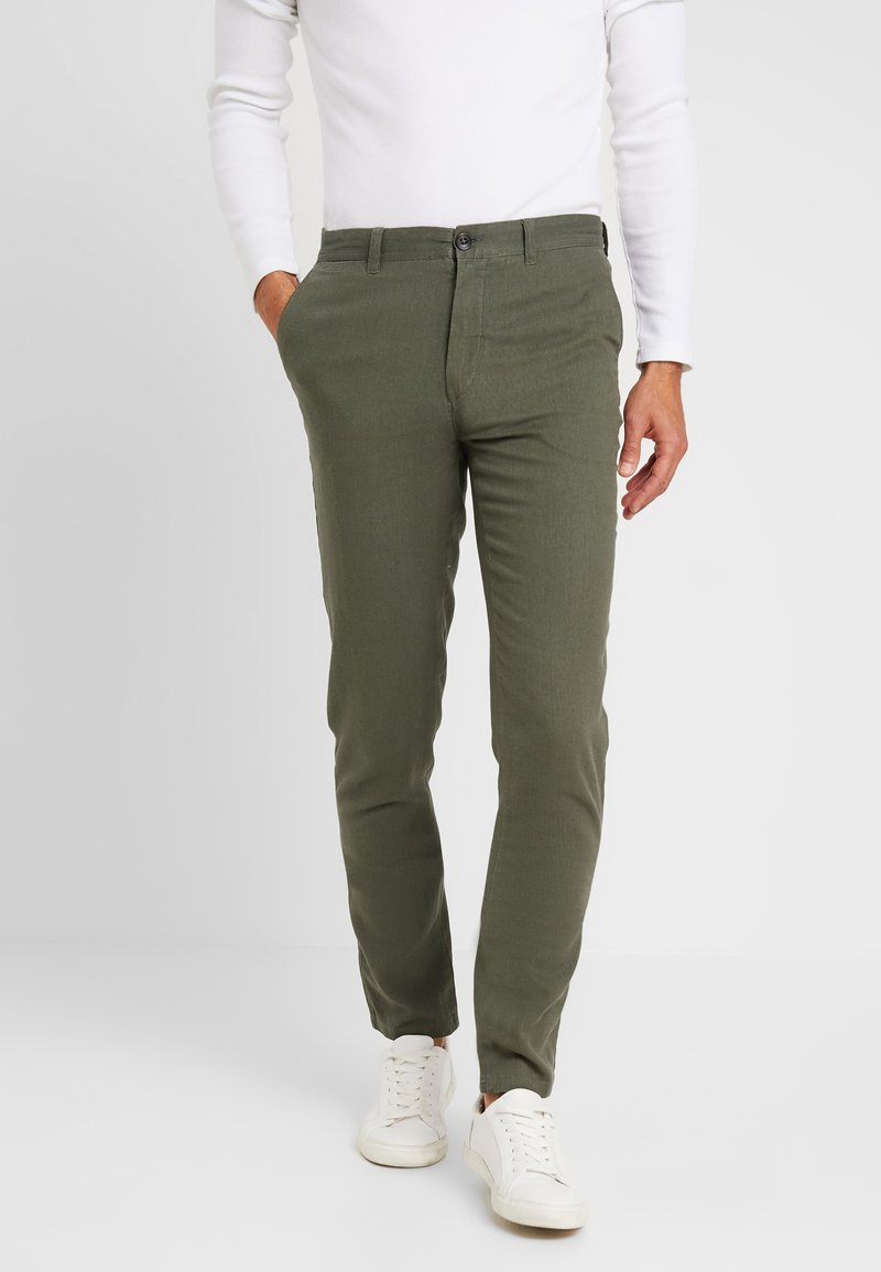 Springfield - PANT BASICO - Trousers - olive