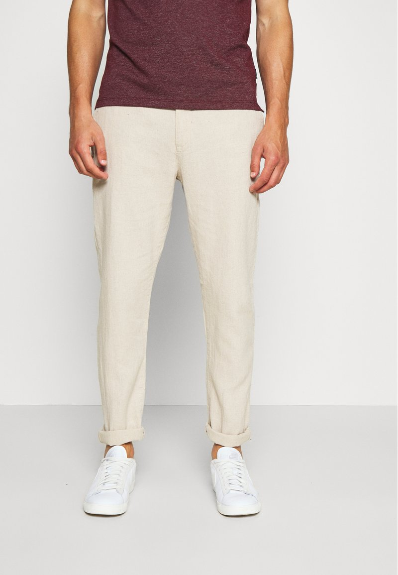 Springfield - PANT BASICO - Trousers - beige