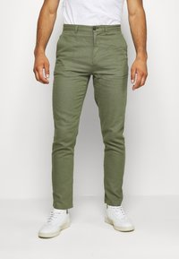 Springfield - PANT BASICO - Trousers - green - 0