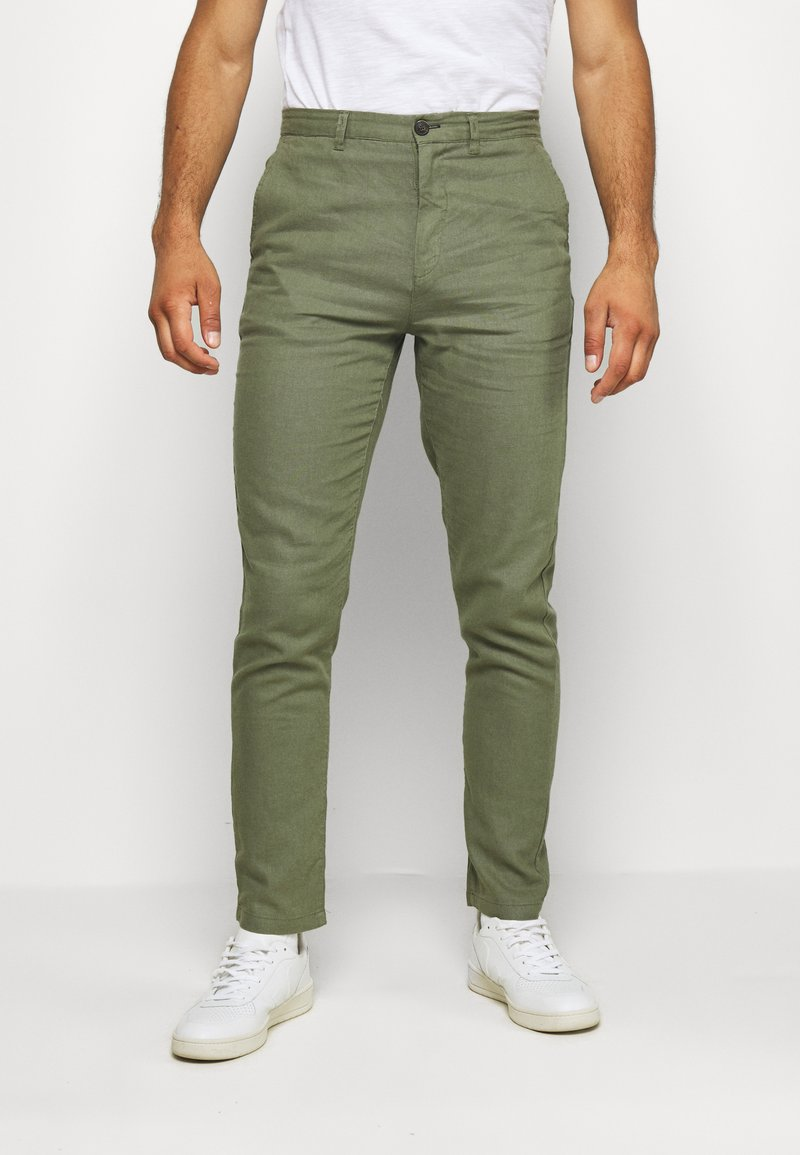 Springfield - PANT BASICO - Trousers - green
