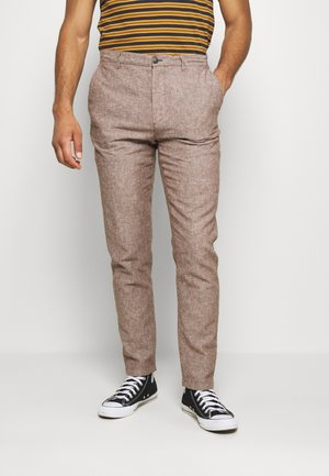 PANT TEXTURAS - Pantaloni - dark brown