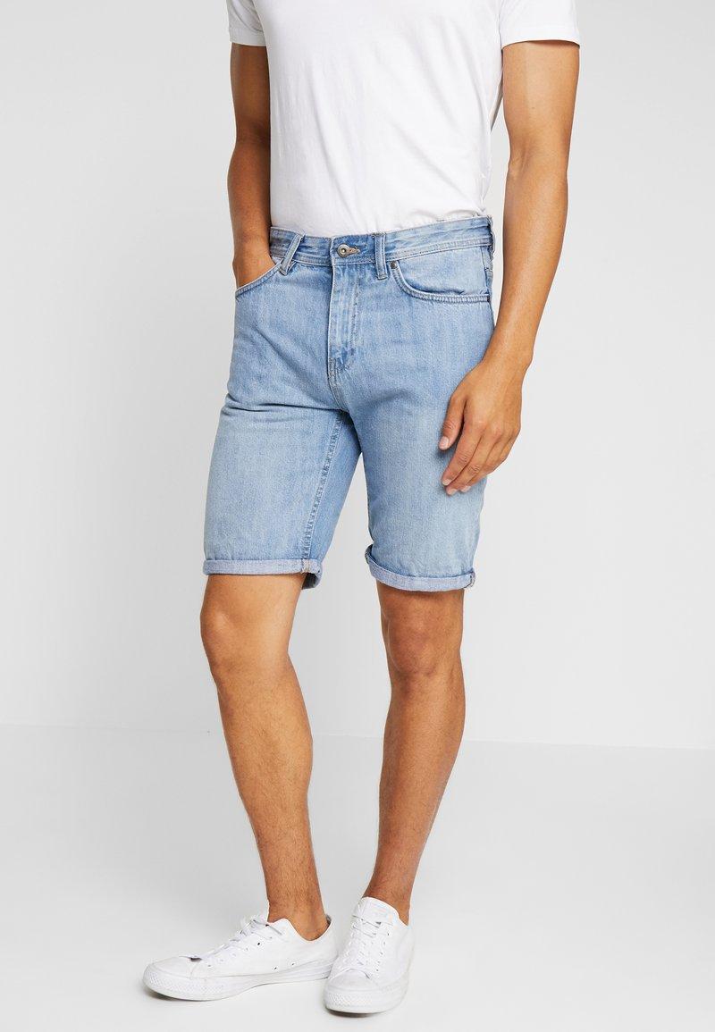 Springfield - BASIC - Jeans Shorts - blue