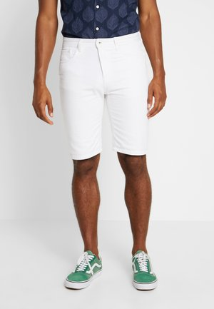 BERM BASIC - Denim shorts - white