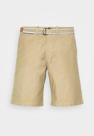 BERMUDA CHINO WORK VINTAGE CINTURON - Shorts - beige/camel