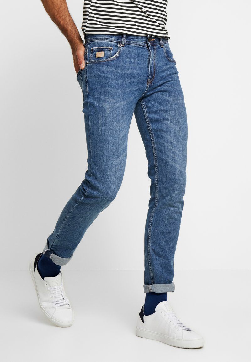 Springfield - Slim fit jeans - light blue