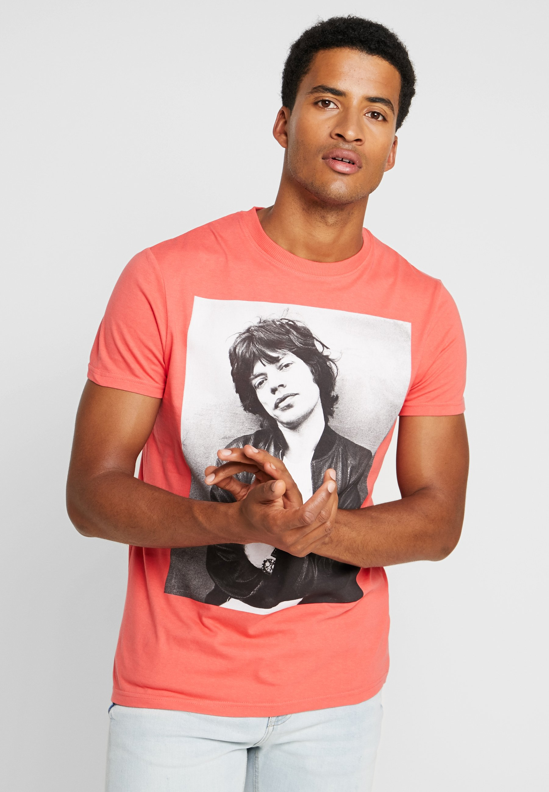 Imprimé Mick FotoT Red Jagger Springfield shirt CBeoWrdx