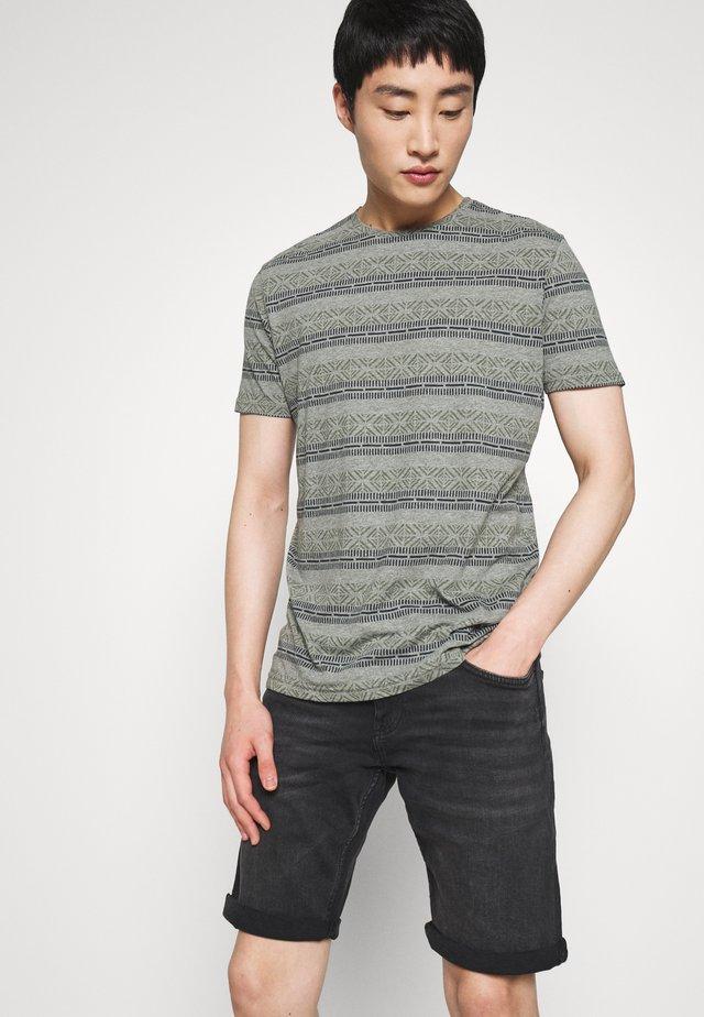 INDI - Print T-shirt - olive