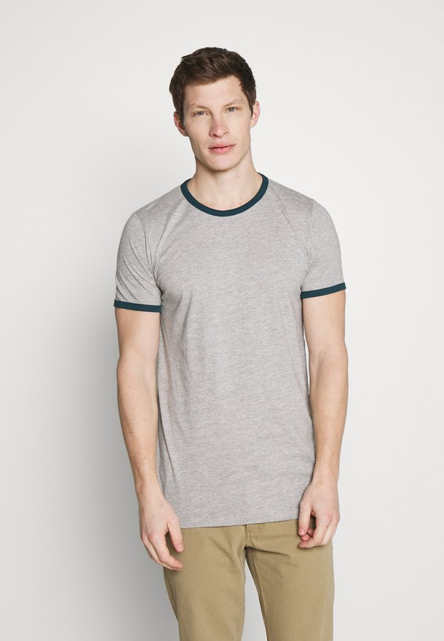 CONTRAST BASIC - Basic T-shirt - grey heather