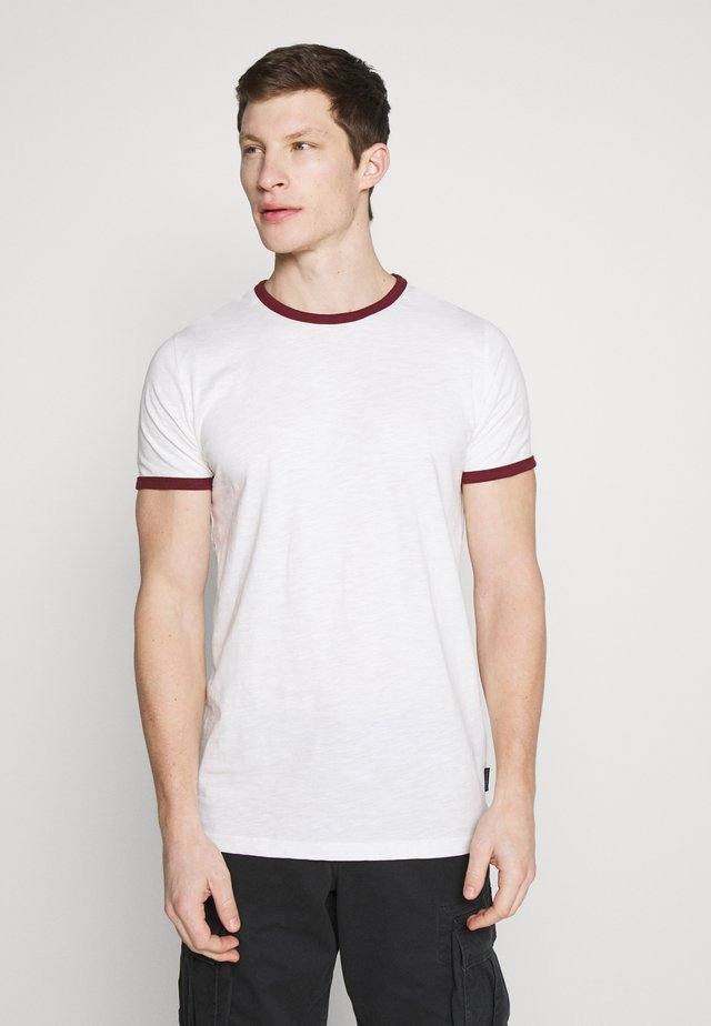 CONTRAST BASIC PLUS - Basic T-shirt - white