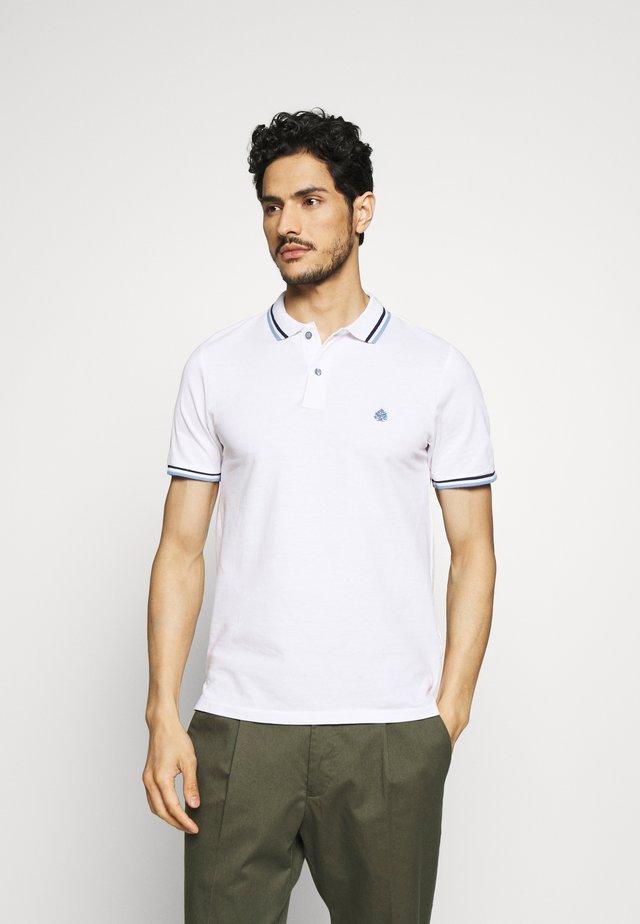 PIPING - Koszulka polo - white