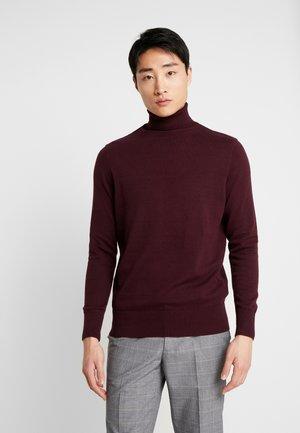 TURTLE  - Stickad tröja - bordeaux