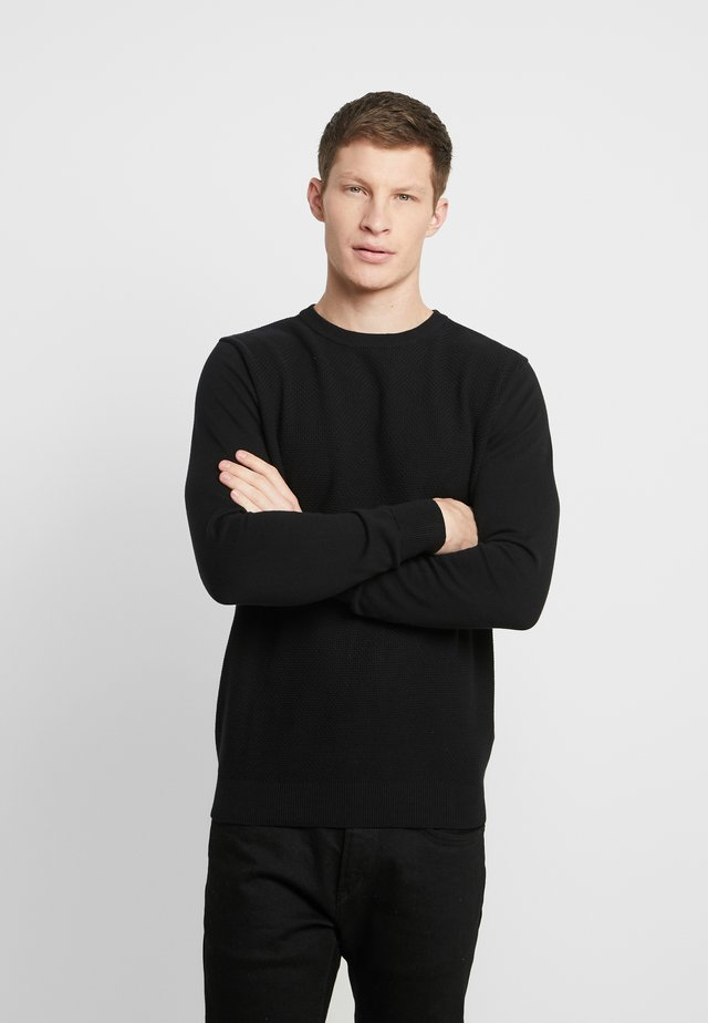 MICROESTRUC - Pullover - black