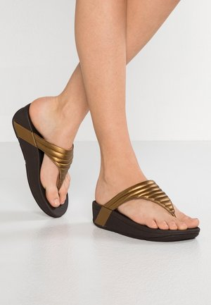 LOTTIE PADDED - Sandalias de dedo - bronze