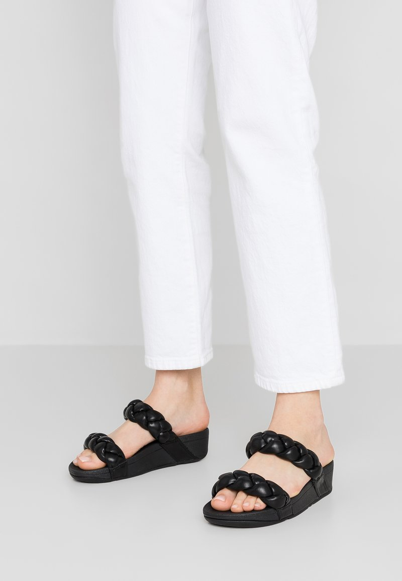 FitFlop - PLATT - Pantofle - black