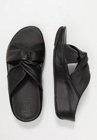 FitFlop - TWISS - Pantofle na podpatku - black - 3