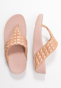 FitFlop - LULU PADDED SHIMMY THONGS - T-bar sandals - rose gold - 3