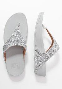 FitFlop - LULU GLITTER TOE THONGS - Sandály s odděleným palcem - silver - 3