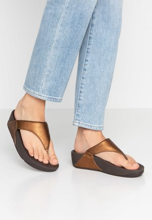 LULU TOEPOST - Sandalias de dedo - bronze