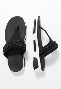 FitFlop - HEDA CHAIN TOE-THONGS - Sandalias de dedo - black - 3