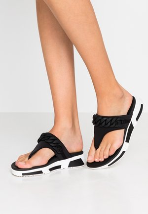 HEDA CHAIN TOE-THONGS - Sandalias de dedo - black