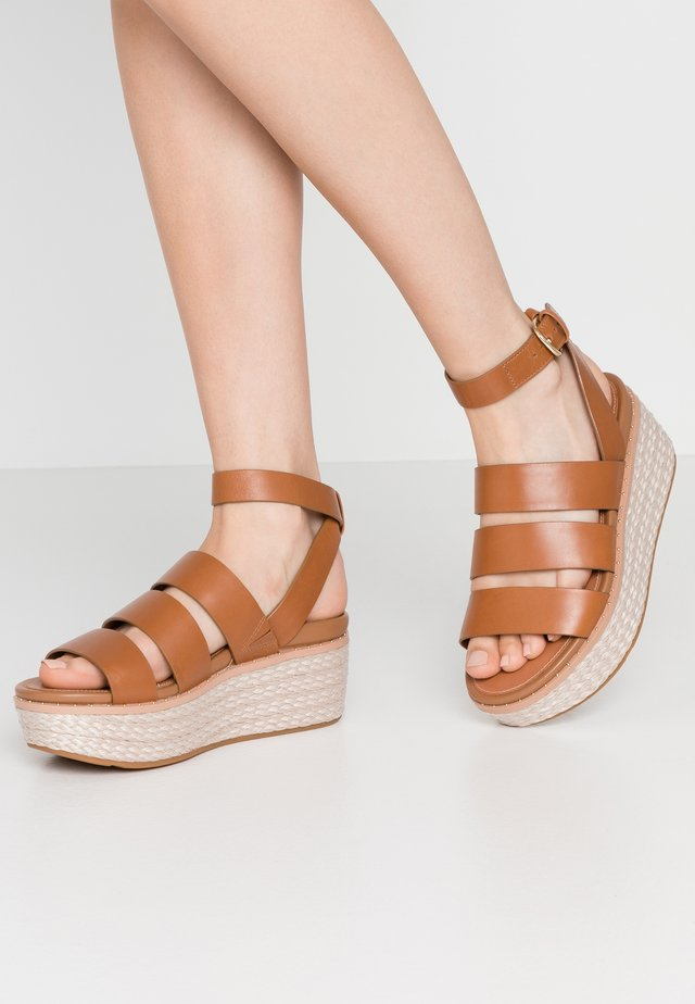 ELOISE - Platform sandals - light tan
