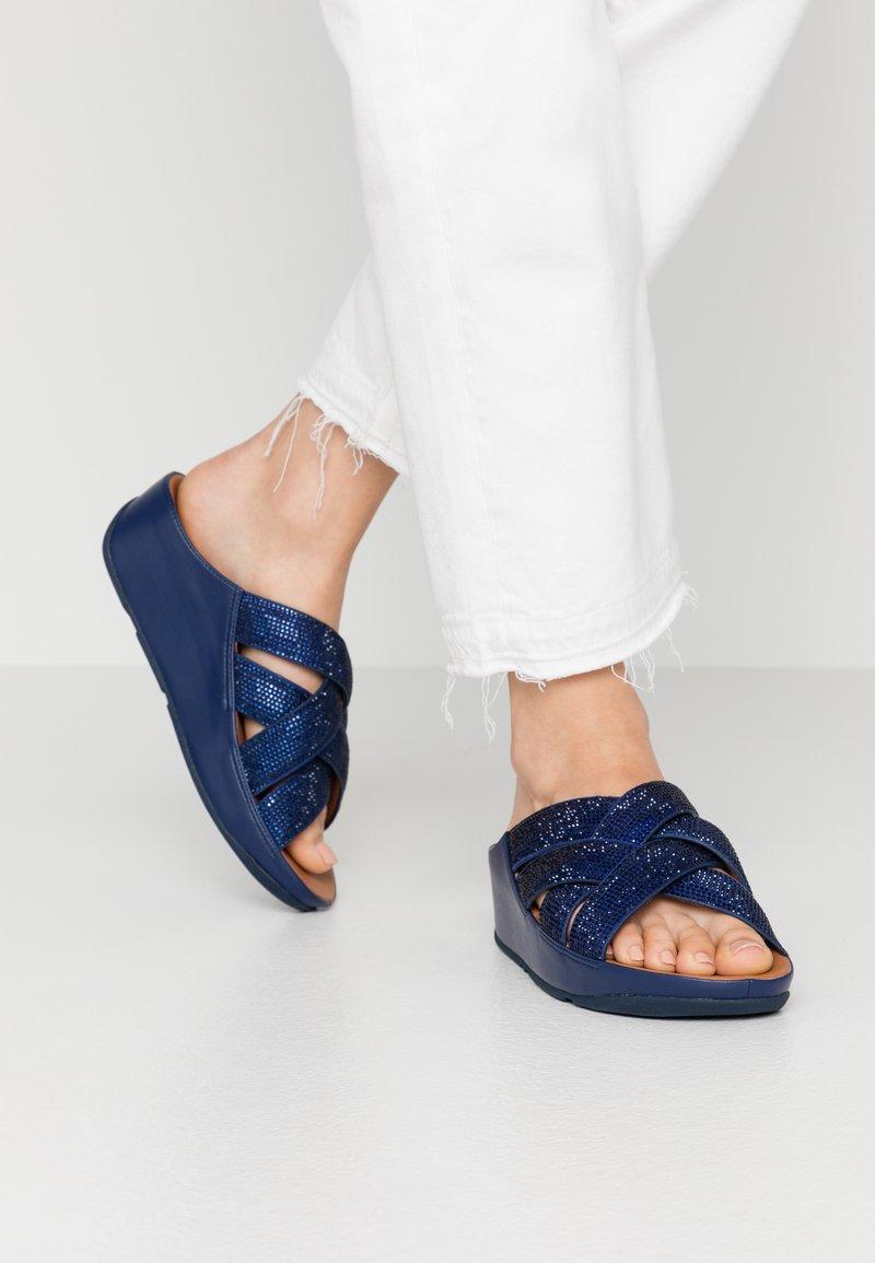 FitFlop - LATTICE - Mules - arora blue