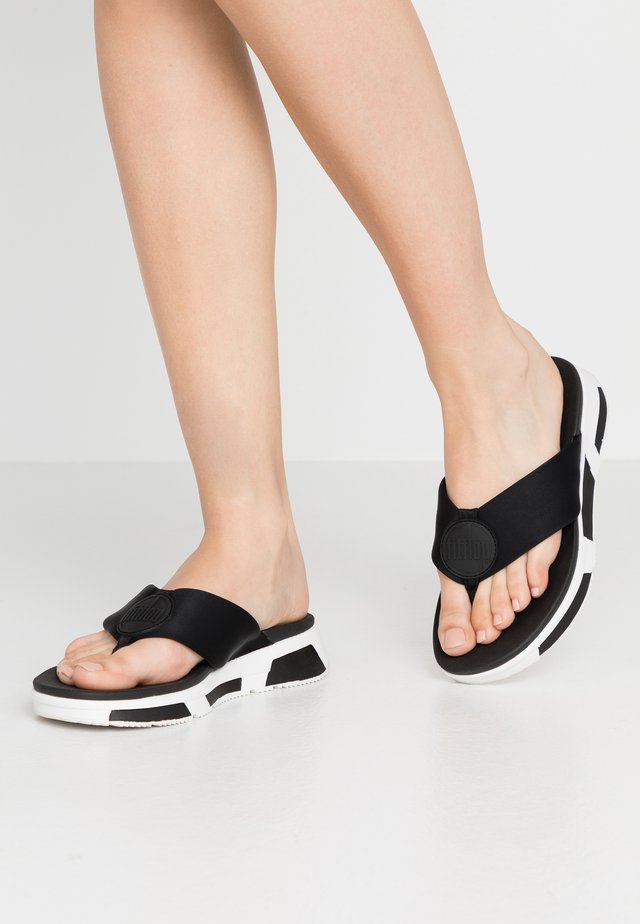 LOGO - T-bar sandals - black