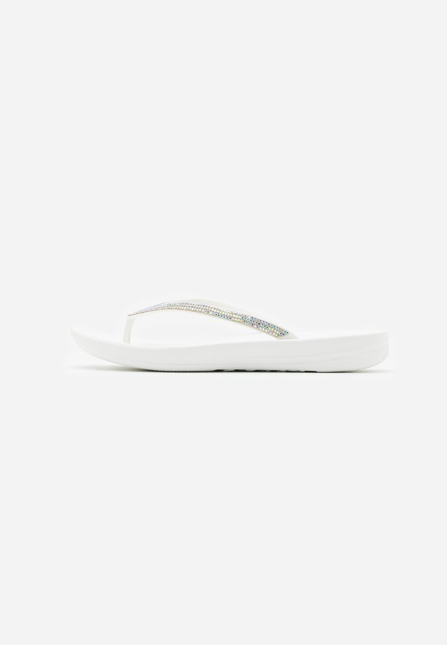 IQUSHION SPARKLE - T-bar sandals - urban white