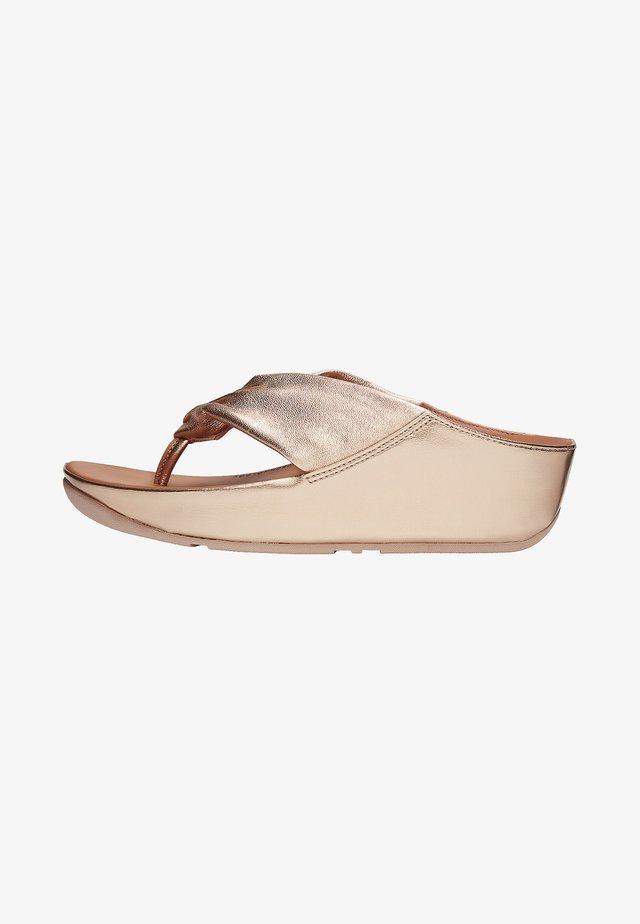 TWISS - T-bar sandals - gold