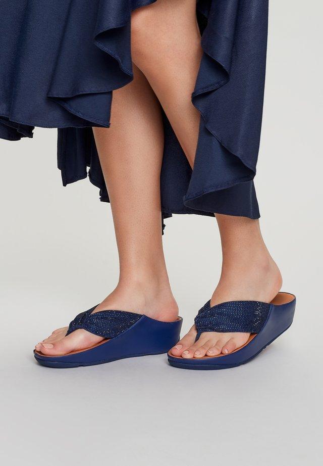 T-bar sandals - midnight navy