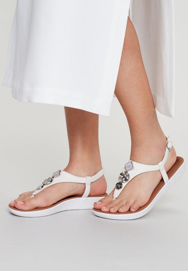 T-bar sandals - stone