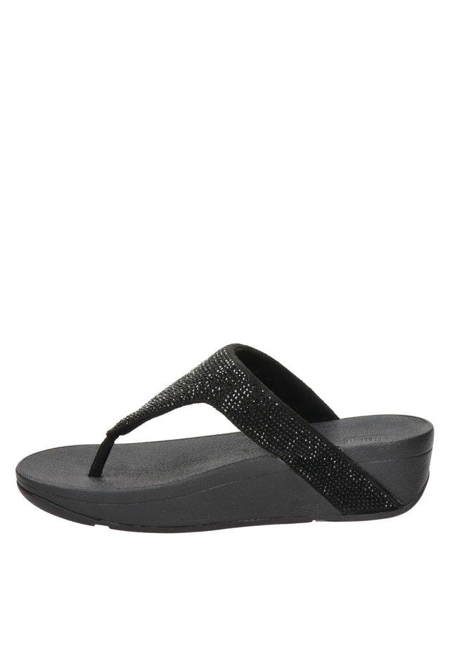 LOTTIE SHIMMER  - Pantoffels - zwart