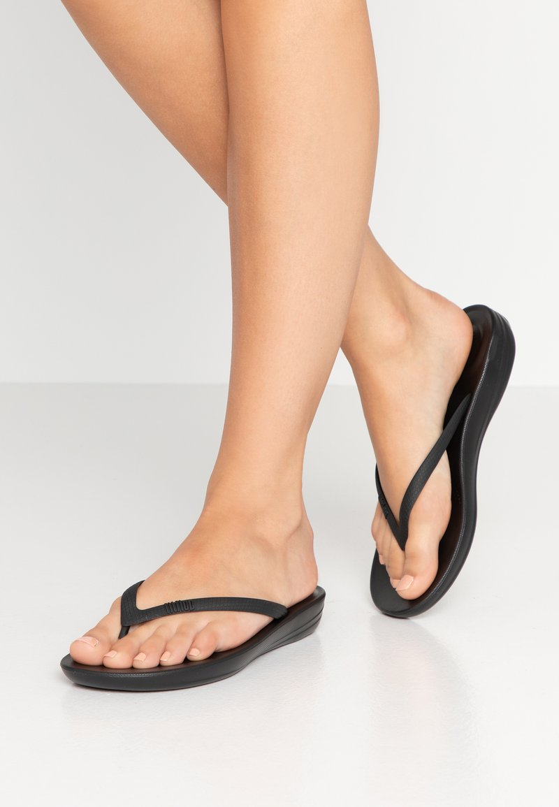 FitFlop - IQUSHION - Tongs - all black