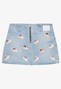 Fiorucci - ALL OVER ANGELS MINI SKIRT - Áčková sukně - light vintage - 1