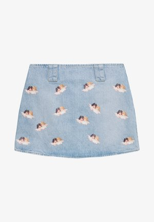 ALL OVER ANGELS MINI SKIRT - Spódnica trapezowa - light vintage