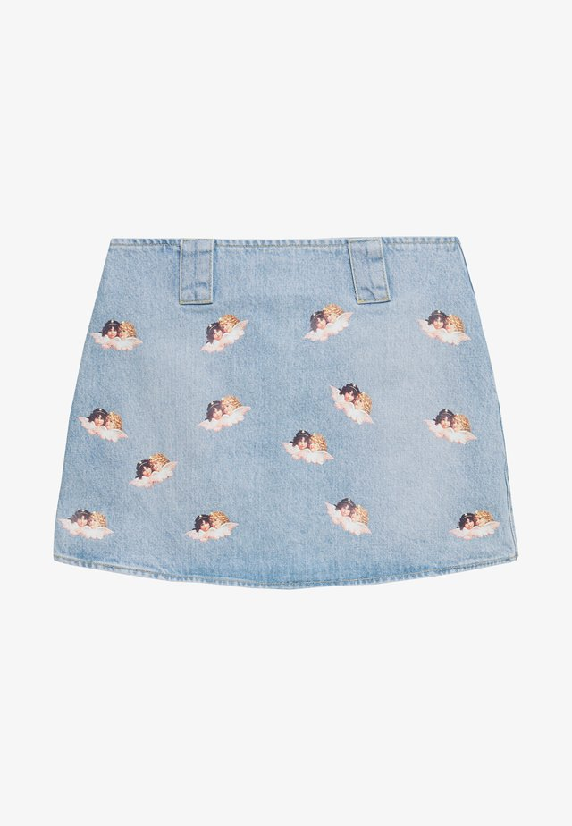 ALL OVER ANGELS MINI SKIRT - Áčková sukně - light vintage